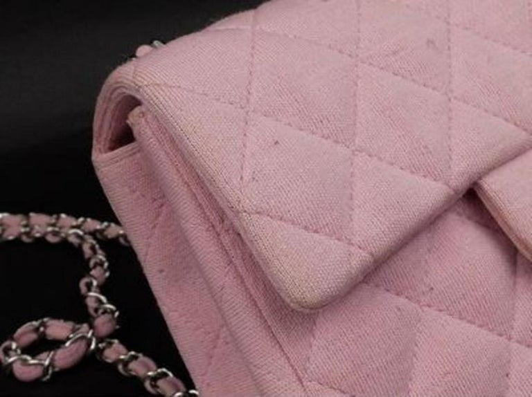 d2d1f96abe6a Chanel Classic Flap Quilted Canvas Mini Square Crossbody 215367 Shoulder Bag  For Sale 2