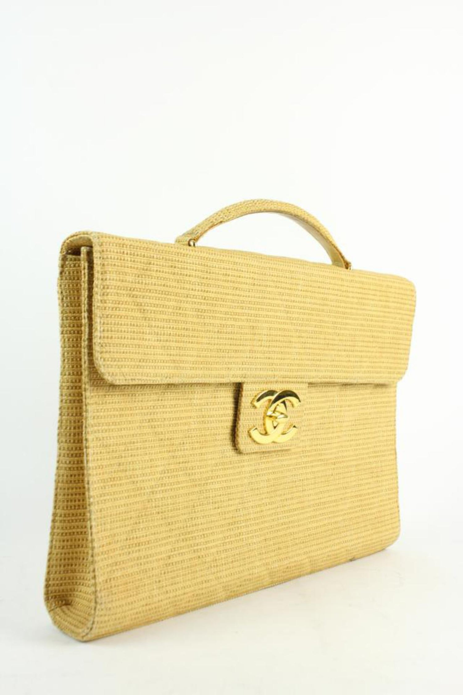 d299fd3a9951 Chanel Classic Flap Quilted Jumbo Attache 212197 Beige Laptop Bag For Sale  at 1stdibs