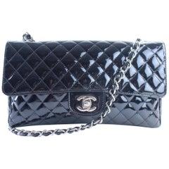 Chanel Classic Flap Quilted Secret Label 1cr0522 Black Leather Shoulder Bag