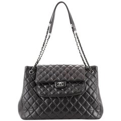 Chanel Classic Flap Shopping Tote Quilted Lambskin Large