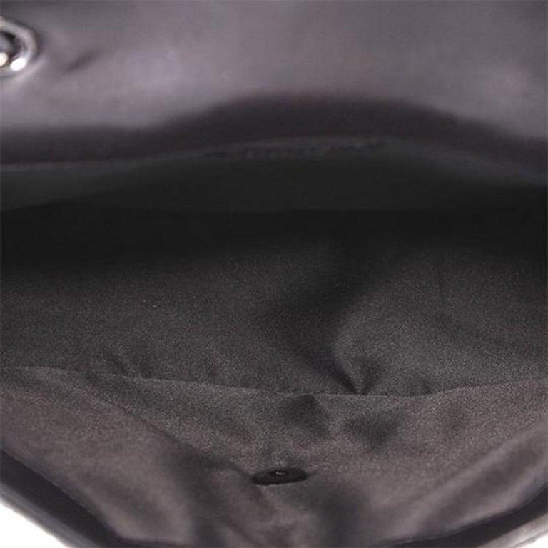 Chanel Classic Flap So Classic Jumbo Maxi Black Sequins Shoulder Bag For Sale 1