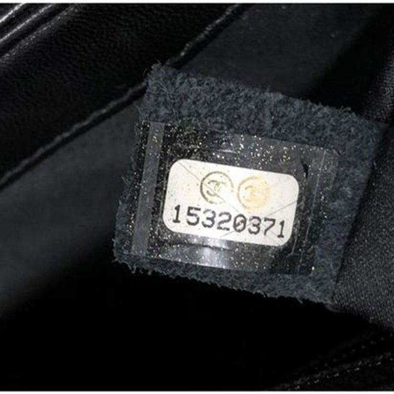Chanel Classic Flap So Classic Jumbo Maxi Black Sequins Shoulder Bag For Sale 2