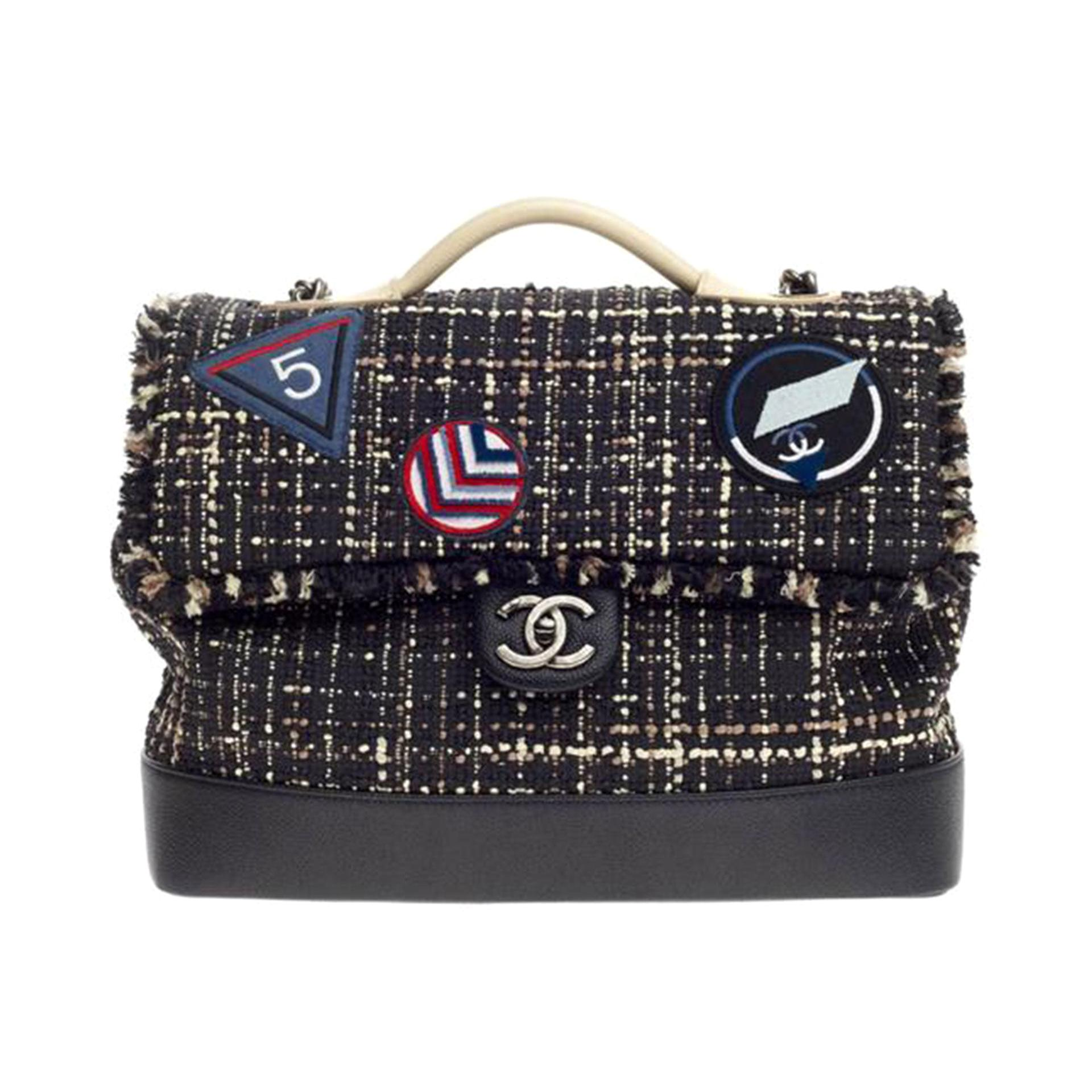 Chanel Classic Flap Travel Airline Airport 2016 Runway Top Handle Bag