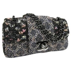 Chanel Classic Flap Ultra Grey Tweed Shoulder Bag