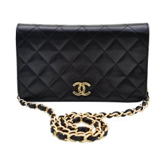 Chanel Classic Full Flap Bag Quilted Lambskin Small