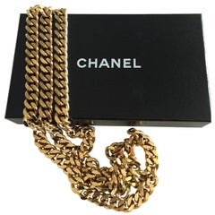 Chanel Classic Golden Link Chain Belt Adjustable Length