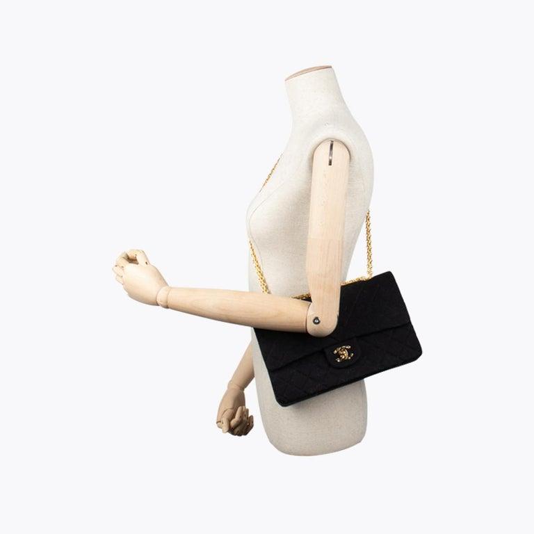 Chanel Classic Medium Jersey Double Flap Bag 5