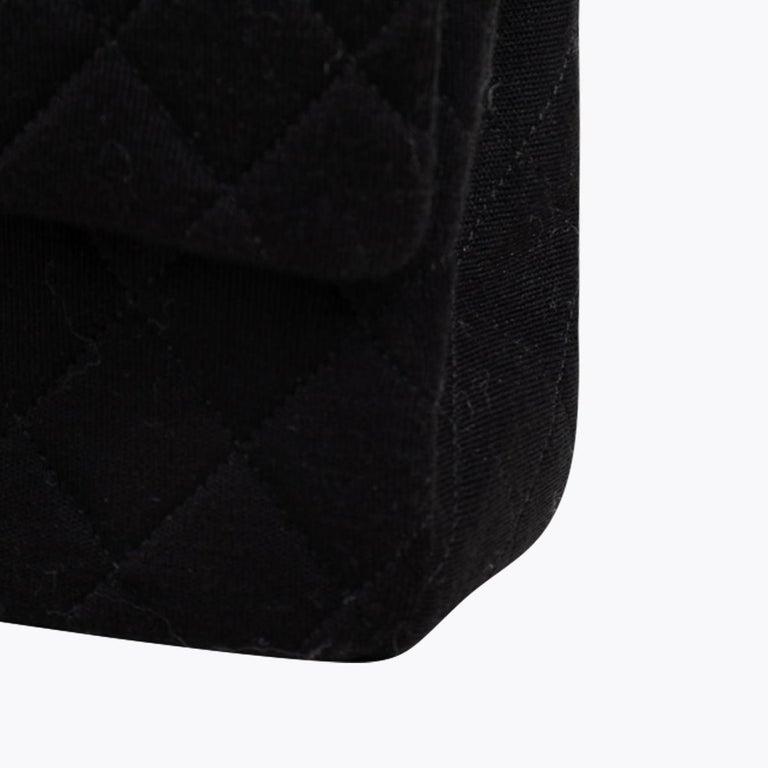 Chanel Classic Medium Jersey Double Flap Bag 6