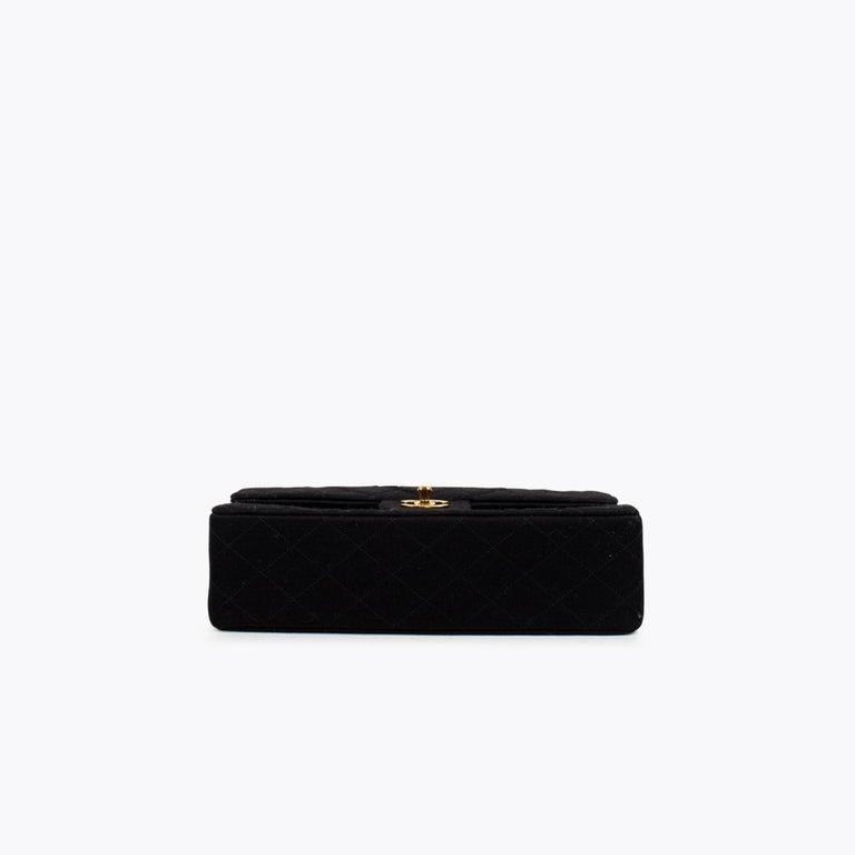 Women's Chanel Classic Medium Jersey Double Flap Bag
