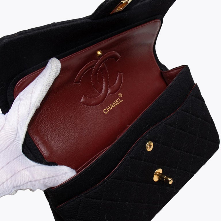 Chanel Classic Medium Jersey Double Flap Bag 2