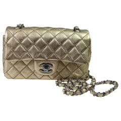Chanel Classic Mini Golden Leather Bag