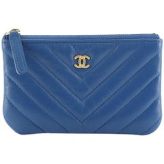 Chanel Classic O Case Pouch Chevron Lambskin Mini
