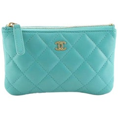 Chanel Classic O Case Pouch Quilted Lambskin Mini