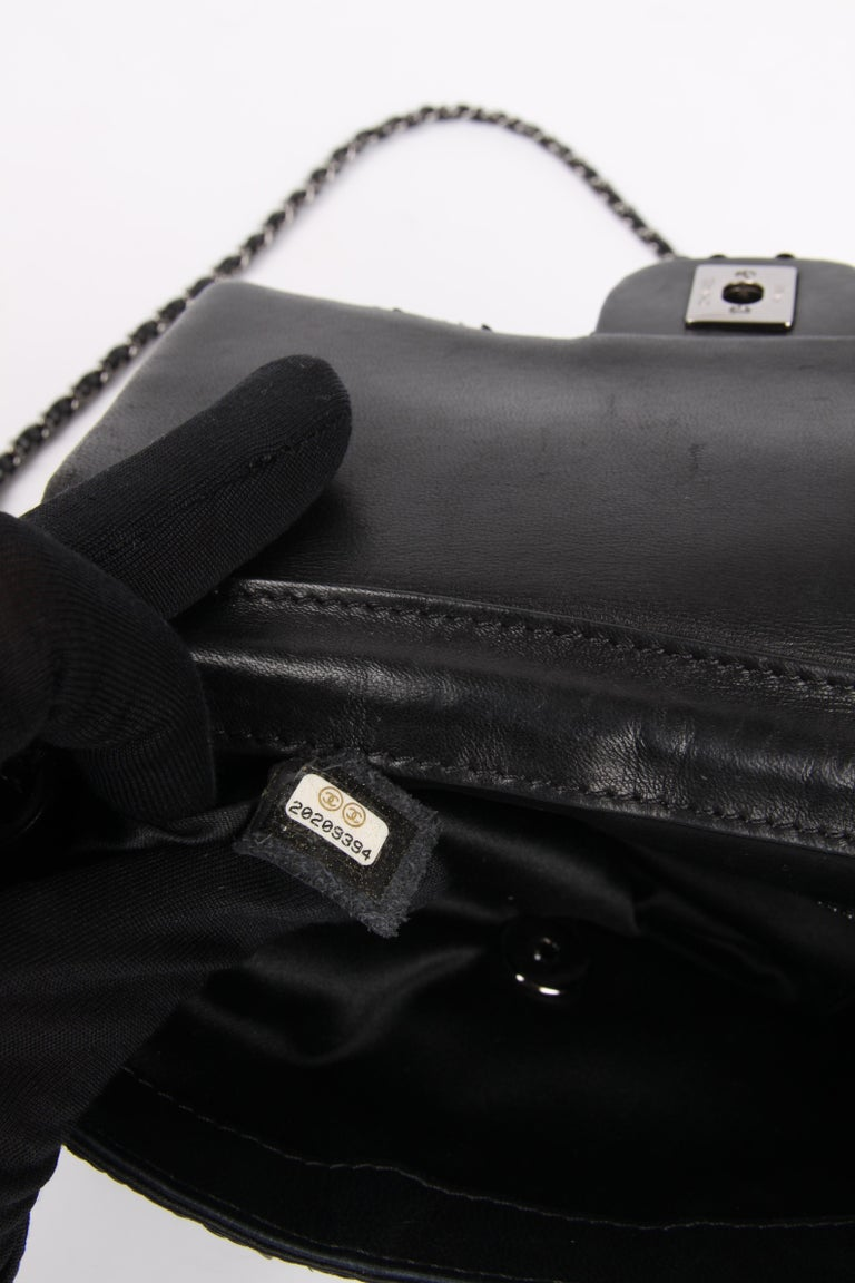 Chanel Classic Sequin Flap Bag - black For Sale 4