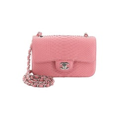 Chanel Classic Single Flap Bag Python Mini