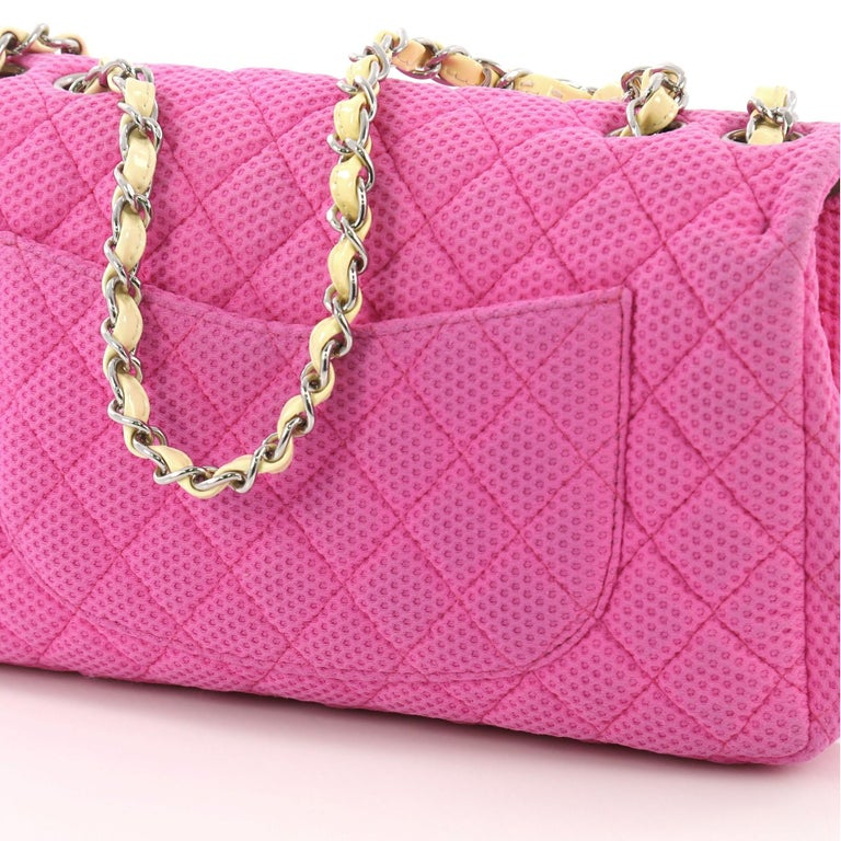 767f8ff84c02 Chanel Classic Single Flap Bag Quilted Mesh Medium For Sale at 1stdibs