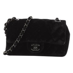 Chanel Classic Single Flap Bag Quilted Velvet Mini