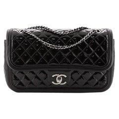 Chanel Classic Twist Flap Bag Quilted Patent with Lambskin Medium