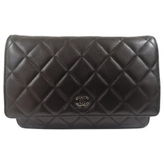 Chanel Classic wallet on chain black leather shoulder bag