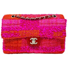 Chanel Classique Tweed fucsia Hdw Silver, 2002