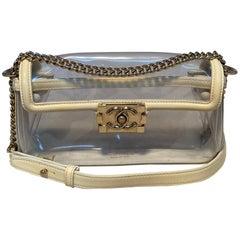 Chanel Clear PVC Classic Flap Shoulder Bag
