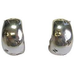 CHANEL Clip-on Earrings in Sterling Silver 925Ag