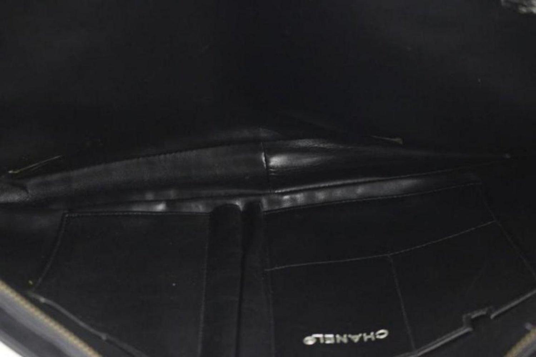 cd8a0c11210103 Chanel Clutch Chevron 63cca730 Black Laptop Bag For Sale at 1stdibs