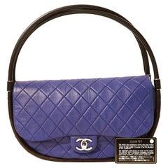 Chanel Cobalt Blue Leather Hula Hoop Bag