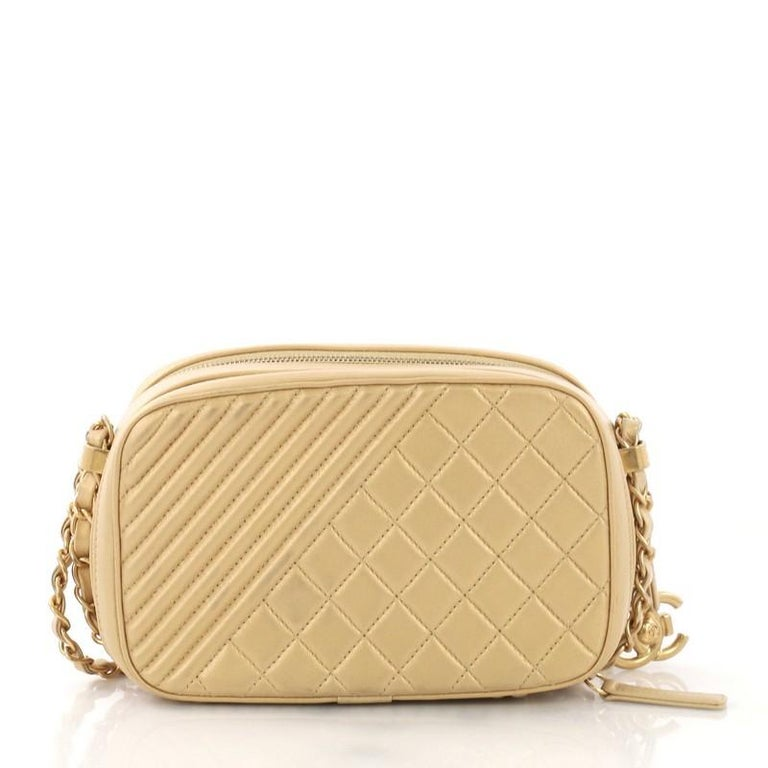 fbcd74baff8c Chanel Coco Boy Camera Bag Quilted Leather Small In Good Condition For Sale  In New York
