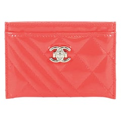 Chanel Coco Boy Card Holder Quilted Patent