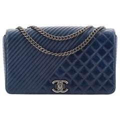 Chanel Coco Boy Flap Bag Quilted Aged Calfskin Large