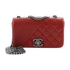 Chanel Coco Boy Flap Bag Quilted Aged Calfskin Small