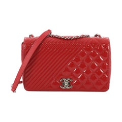 Chanel Coco Boy Flap Bag Quilted Patent Medium