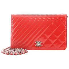 Chanel Coco Boy Wallet on Chain Quilted Patent