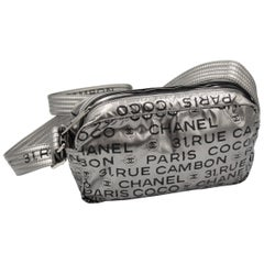 Chanel Coco Cambon Silver Coated Canvas