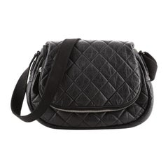 Chanel Coco Cocoon Expandable Messenger Bag Quilted Lambskin Large