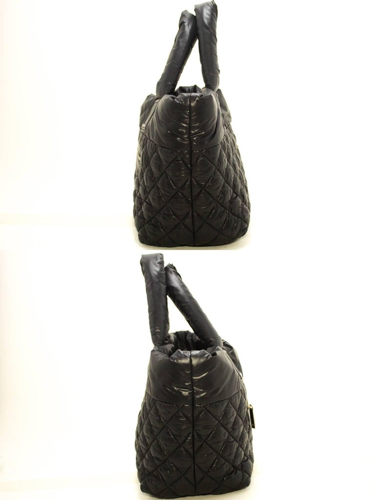 39a8fb11a7b5 Women's Chanel Coco Cocoon Nylon Large Black Bordeaux Reversible Tote Bag  For Sale