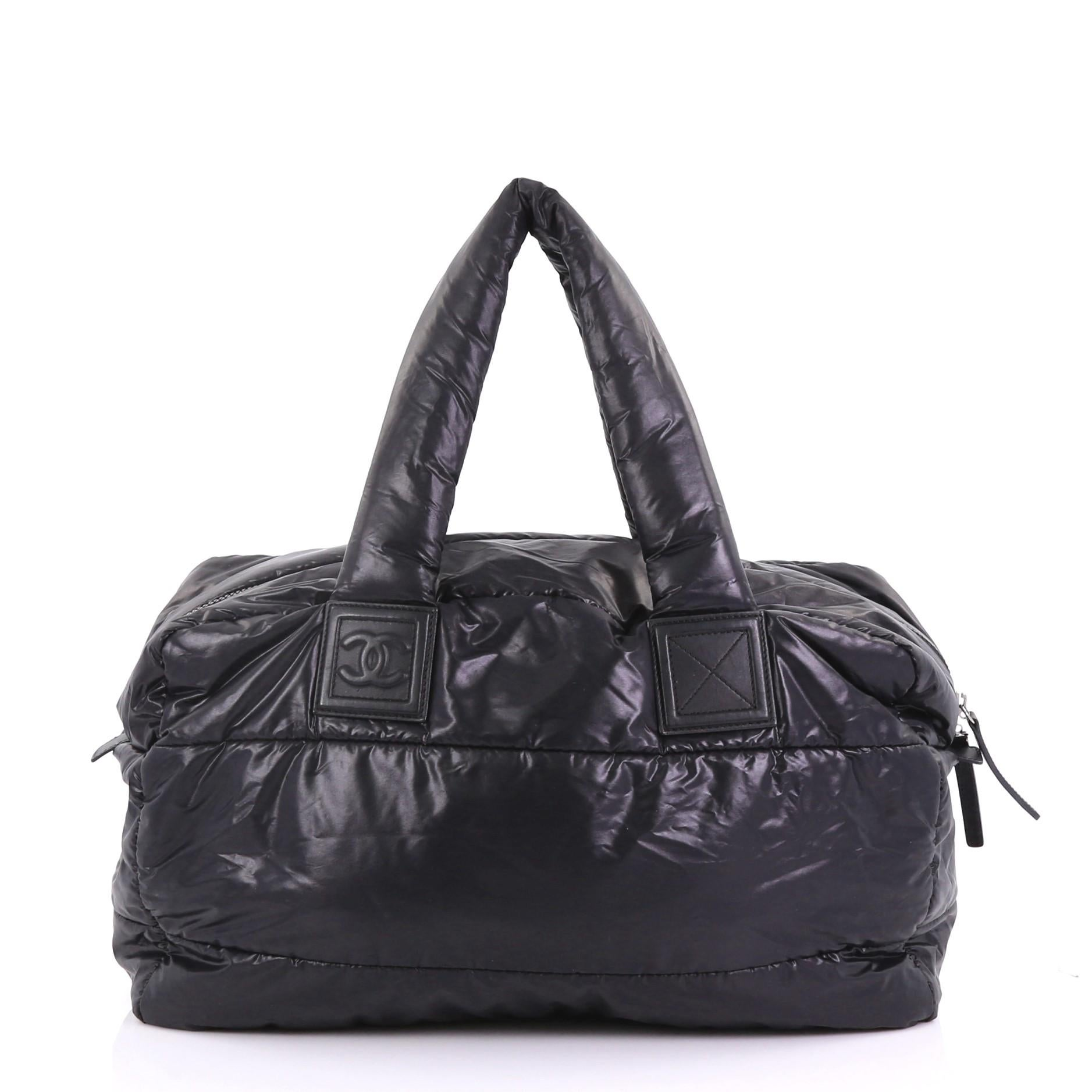 c00bb173135b Chanel Coco Cocoon Reversible Bowling Bag Quilted Nylon Medium at 1stdibs