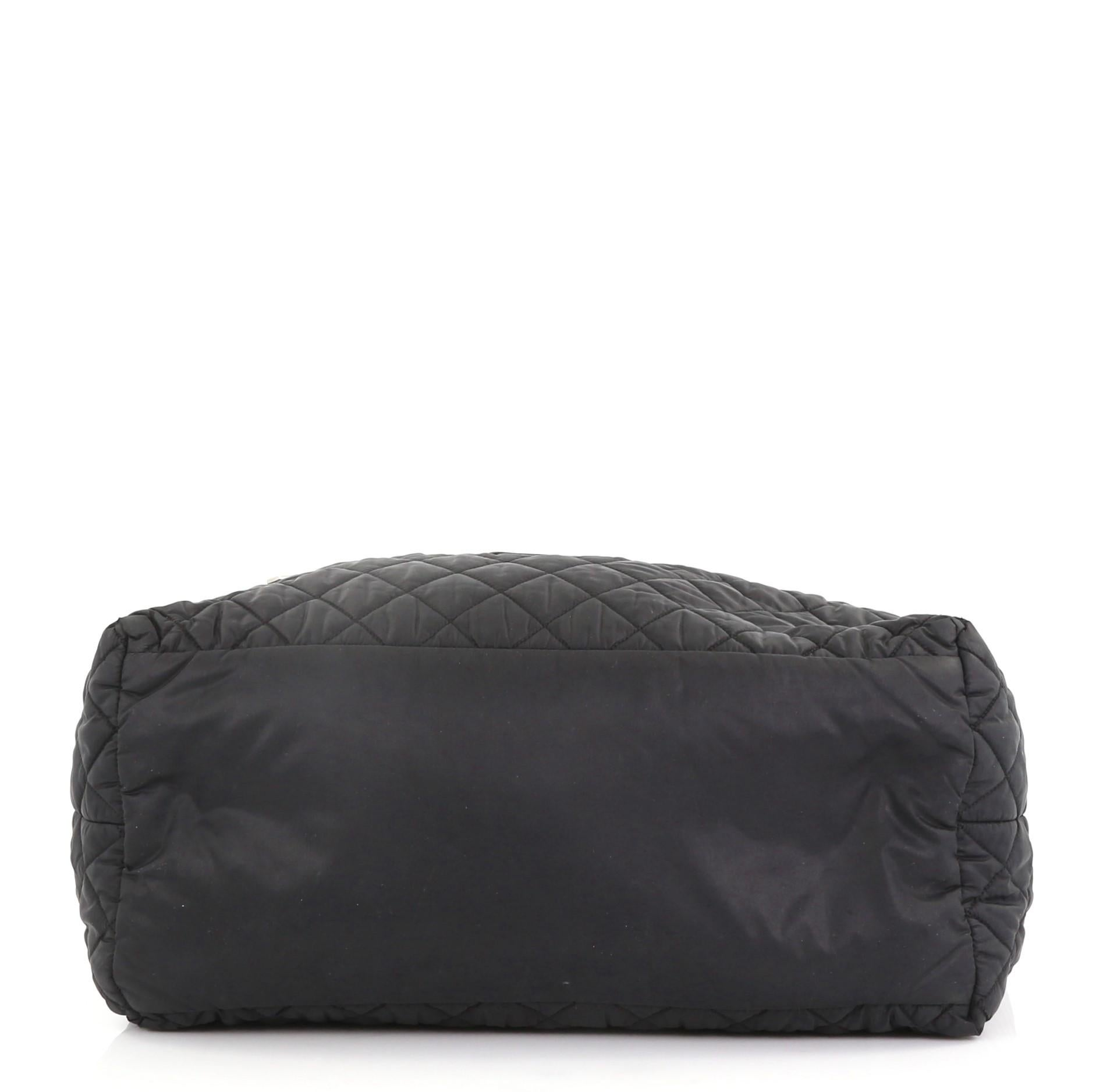 7bd4b8b03687 Chanel Coco Cocoon Zipped Tote Quilted Nylon Medium For Sale at 1stdibs
