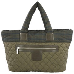 Chanel Coco Cocoon Zipped Tote Quilted Printed Nylon Medium