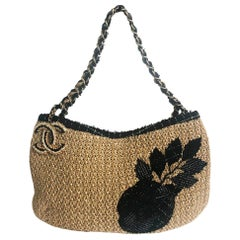 Chanel Coco Country Camellia Bag Woven Straw Tote 2010 Collection