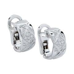 Chanel Coco Crush Diamond and 18 Karat White Gold Earrings