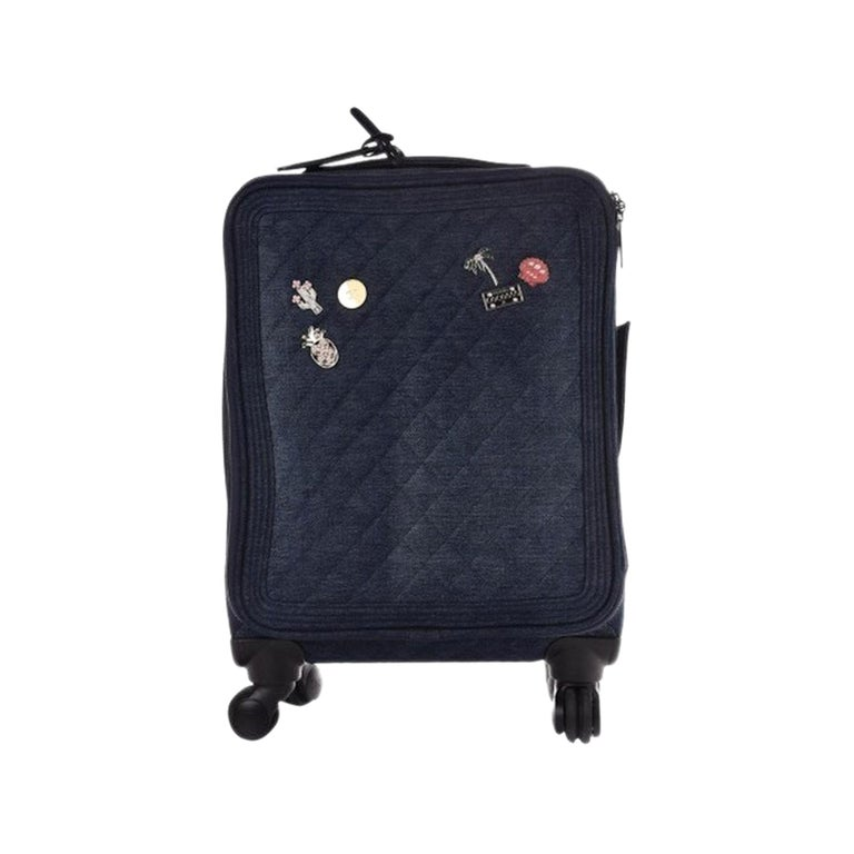Chanel Coco Cuba Trolley Travel Luggage Rolling Carry On For Sale