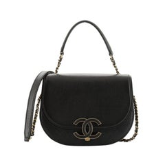 Chanel  Coco Curve Flap Messenger Calfskin and Quilted Goatskin Small