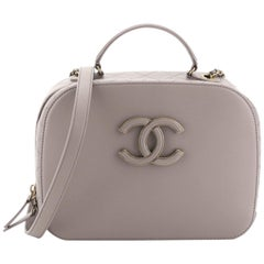 Chanel Coco Curve Vanity Case Calfskin And Quilted Goatskin Medium