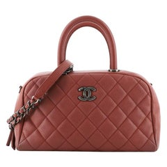 Chanel Coco Handle Bowling Bag Quilted Caviar Small