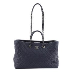 Chanel Coco Handle Shopping Tote Quilted Caviar