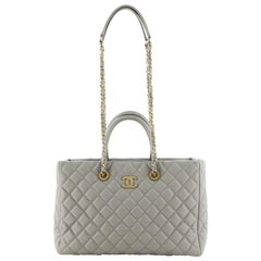 Chanel Coco Handle Shopping Tote Quilted Caviar Medium