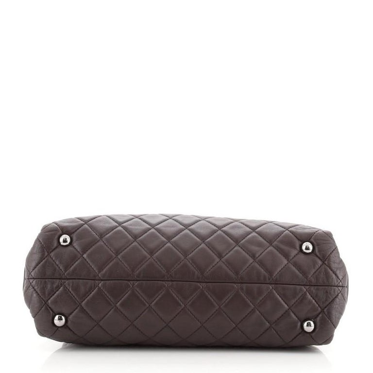 Chanel Coco Loop Tote Quilted Lambskin Small In Good Condition For Sale In New York, NY