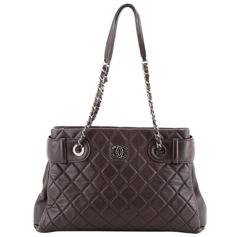 Chanel Coco Loop Tote Quilted Lambskin Small For Sale
